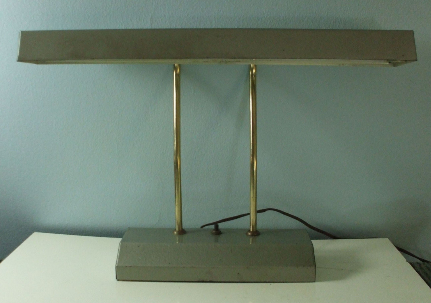 Best ideas about Fluorescent Desk Lamp . Save or Pin vintage gray metal desk lamp fluorescent bulb Now.