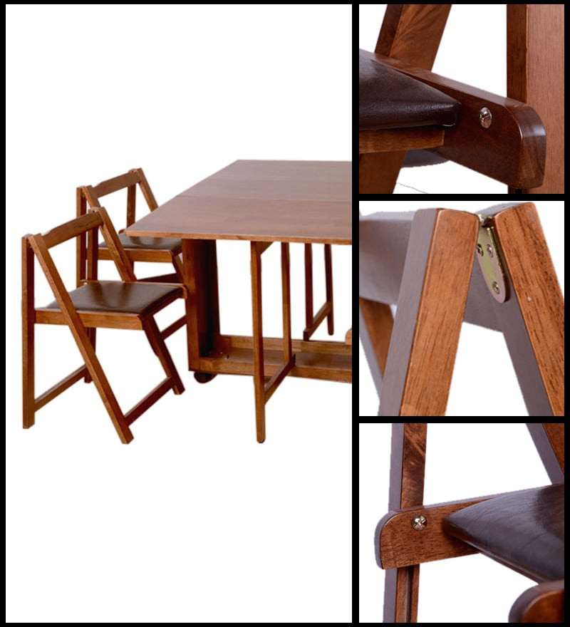 Best ideas about Foldable Dining Table . Save or Pin Buy pact Four Seater Folding Dining Set by HomeTown Now.