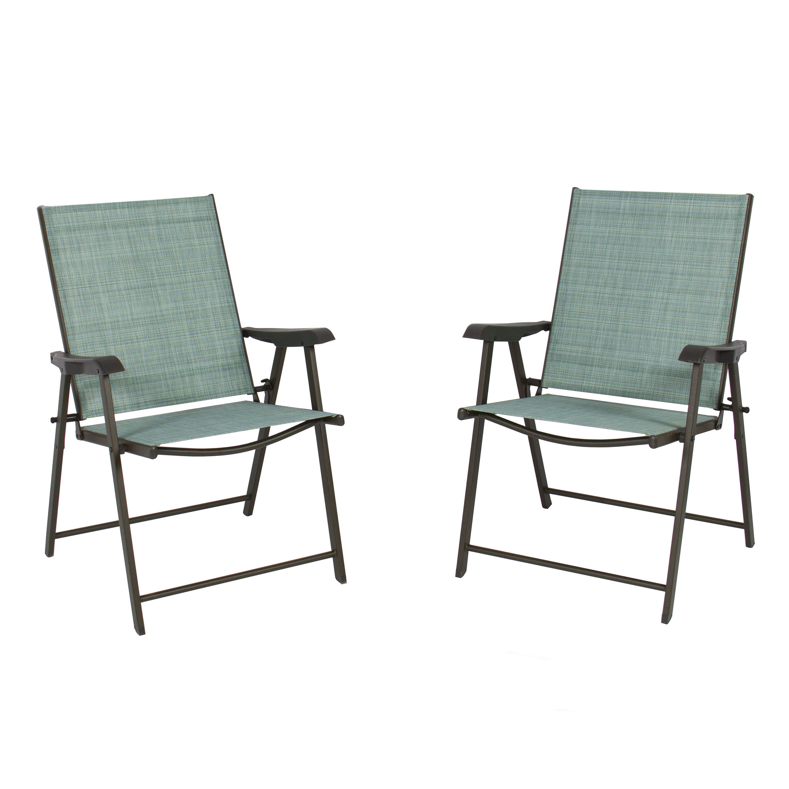 Best ideas about Folding Chairs Outdoor . Save or Pin Set of 2 Folding Chairs Sling Bistro Set Outdoor Patio Now.