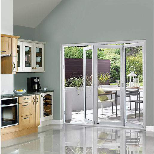Best ideas about Folding Patio Doors . Save or Pin Wickes Burman Finished Folding Patio Door White 7ft Wide Now.