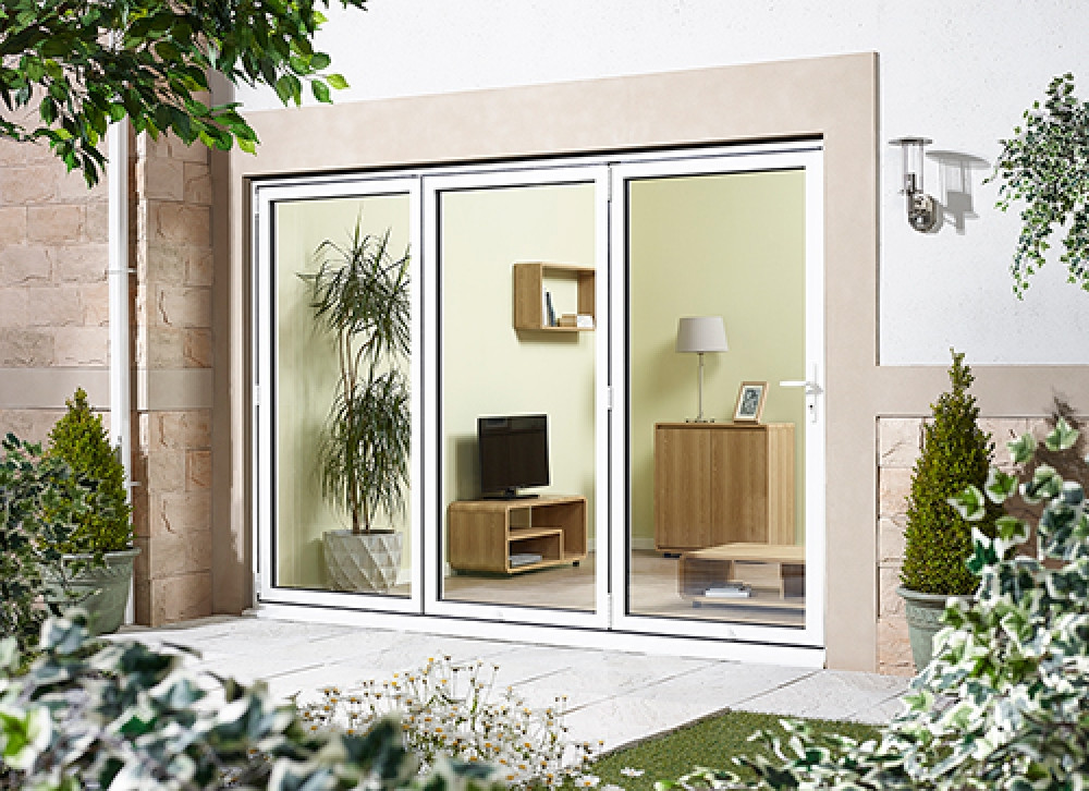 Best ideas about Folding Patio Doors . Save or Pin Aluminium Bifold Doors External Back Doors In White Now.
