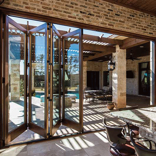Best ideas about Folding Patio Doors . Save or Pin Architect Series Traditional Bifold Patio Door Now.