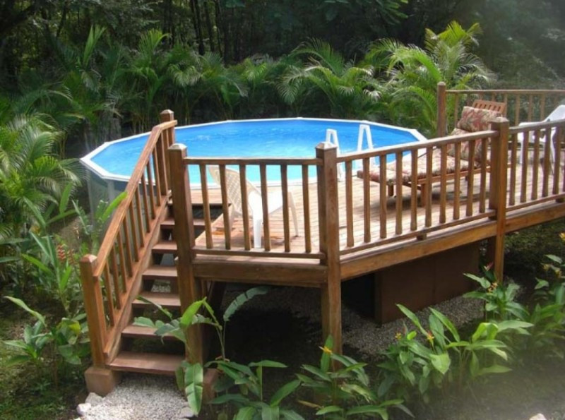 Best ideas about Free Above Ground Pool Deck Plans . Save or Pin 40 Uniquely Awesome Ground Pools with Decks Now.