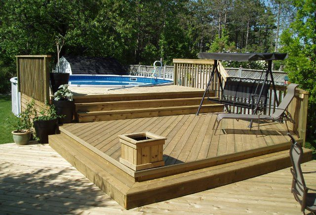 Best ideas about Free Above Ground Pool Deck Plans . Save or Pin above ground pool decks Now.