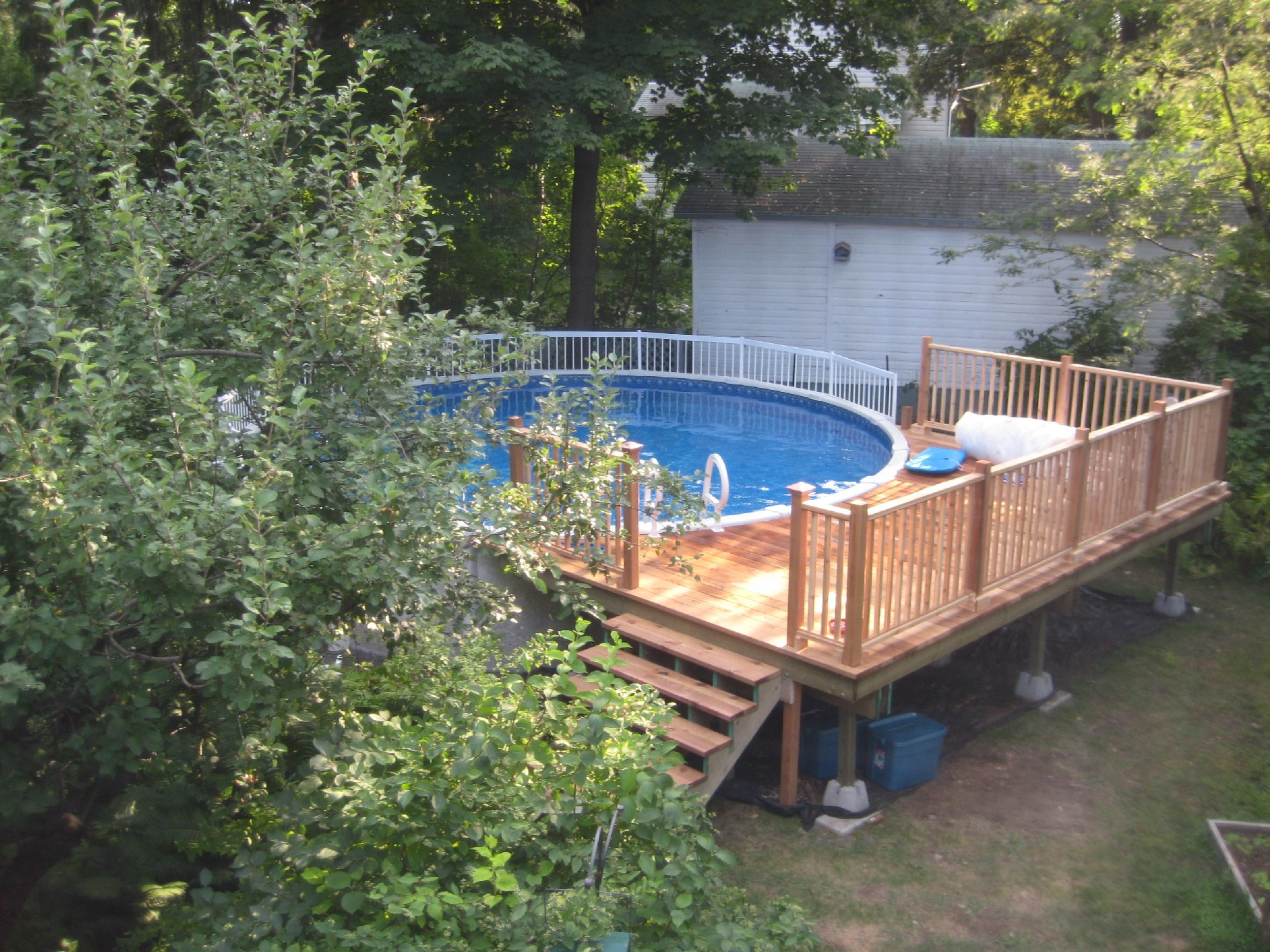 Best ideas about Free Above Ground Pool Deck Plans . Save or Pin Wood 24 Foot Ground Pool Deck Plans PDF Plans Now.