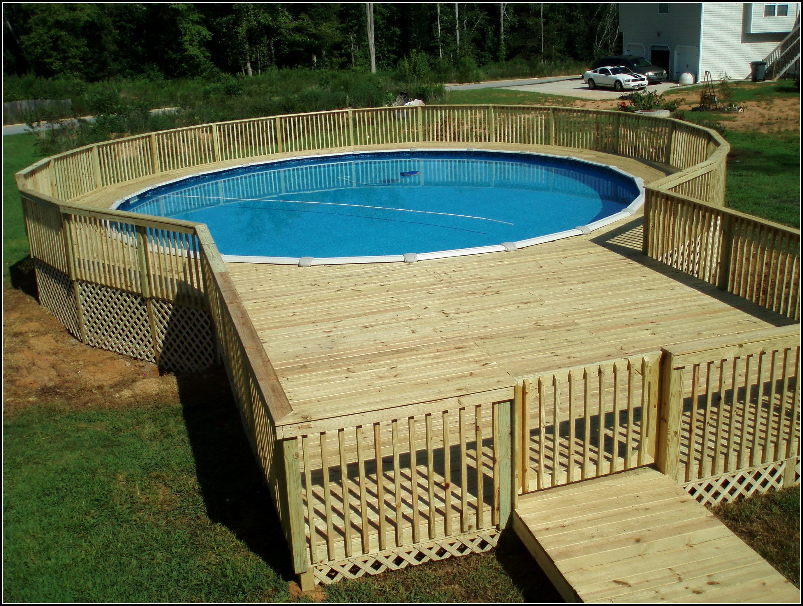 Best ideas about Free Above Ground Pool Deck Plans . Save or Pin 24 Ground Pool Deck Plans Decks Home Decorating Now.