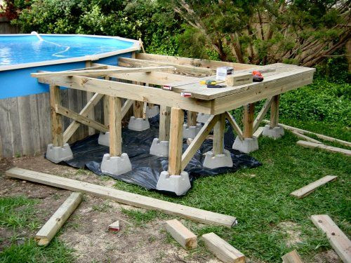 Best ideas about Free Above Ground Pool Deck Plans . Save or Pin Ground Pool Deck Framing Now.