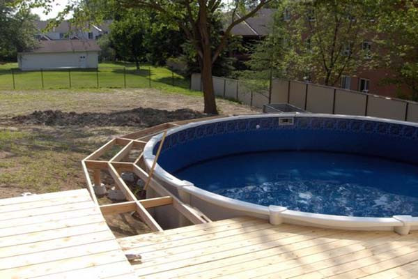 Best ideas about Free Above Ground Pool Deck Plans . Save or Pin 24 Ft Ground Pool Deck Plans Free Now.