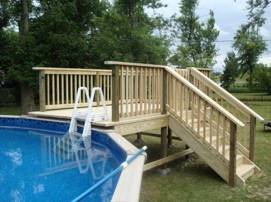 Best ideas about Free Above Ground Pool Deck Plans . Save or Pin above ground pool deck plans oval wood decks around above Now.
