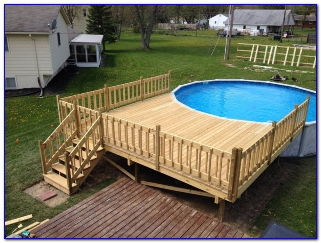 Best ideas about Free Above Ground Pool Deck Plans . Save or Pin Pros of above ground pool deck plans – yonohomedesign Now.