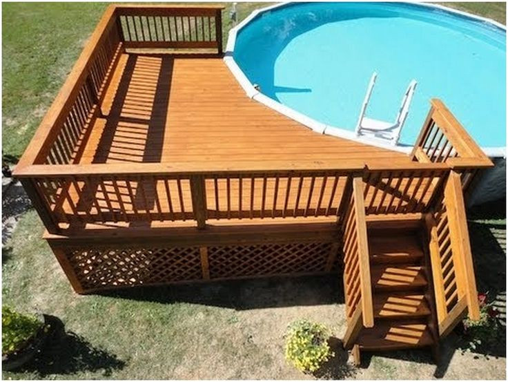 Best ideas about Free Above Ground Pool Deck Plans . Save or Pin 25 best ideas about Pool deck plans on Pinterest Now.