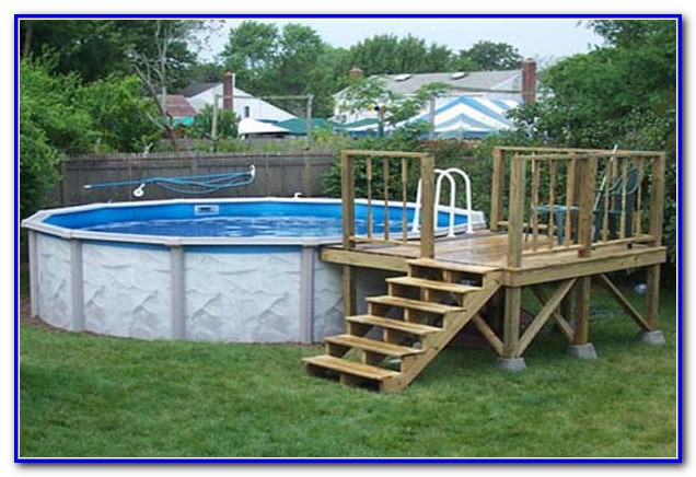 Best ideas about Free Above Ground Pool Deck Plans . Save or Pin Ground Pool Deck Plans Free Decks Home Now.