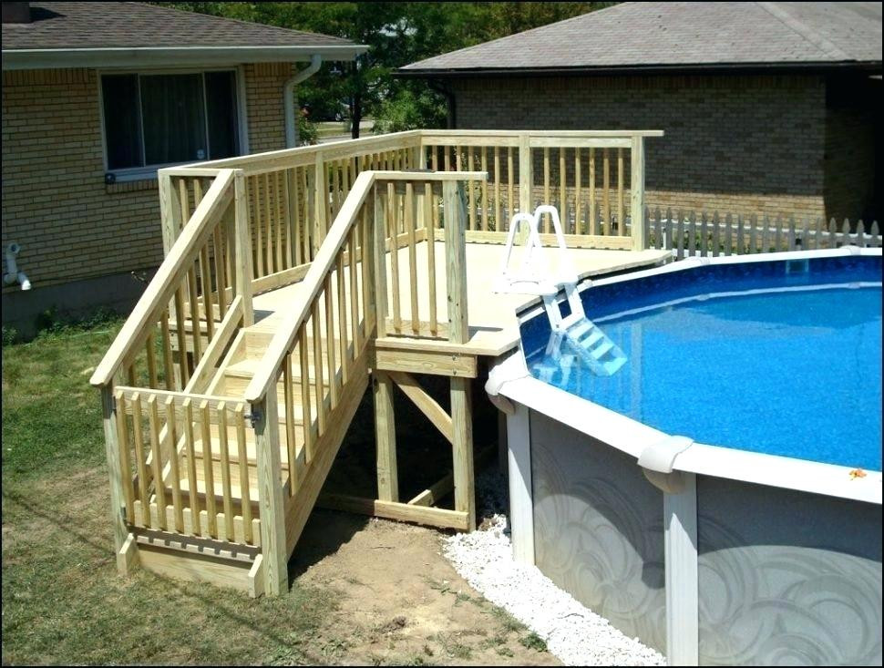 Best ideas about Free Above Ground Pool Deck Plans . Save or Pin Diy Decks For Ground Pools Round Designs Inside Pool Now.