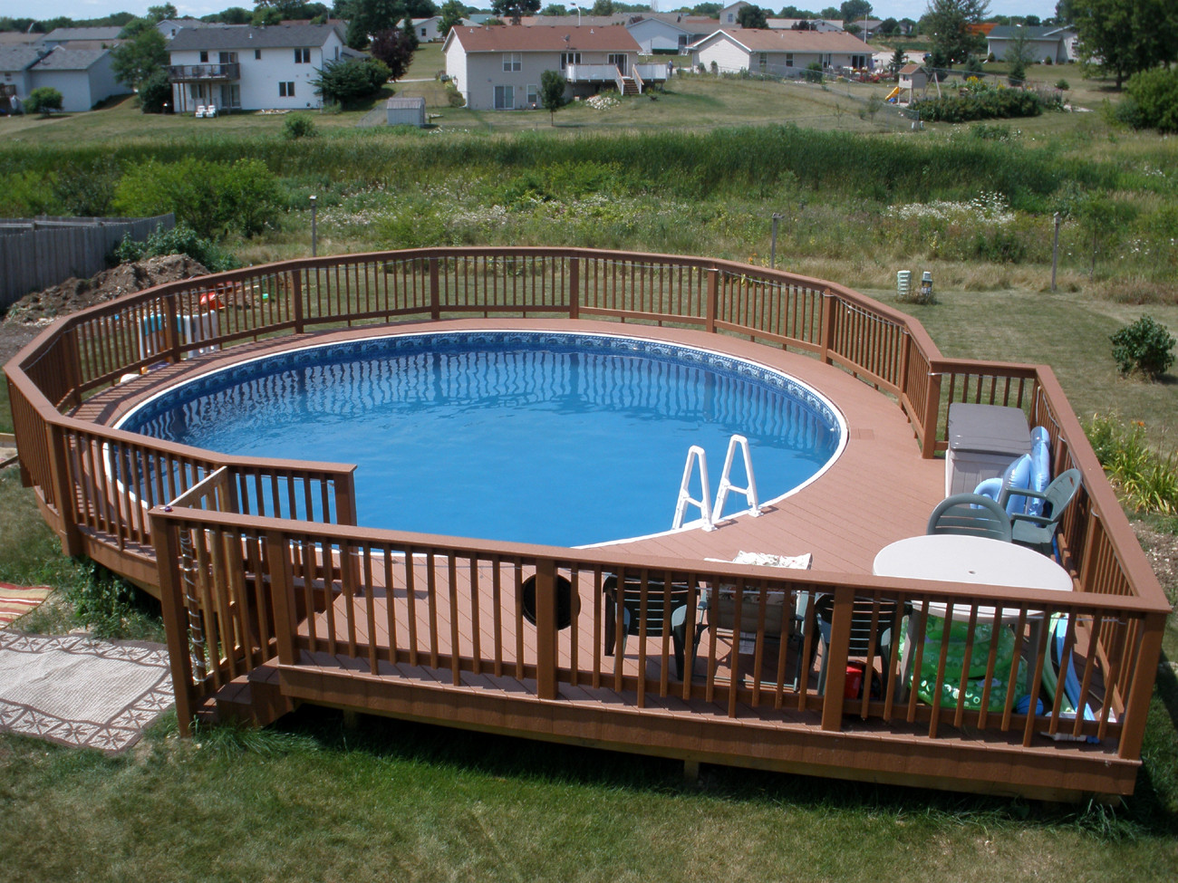 Best ideas about Free Above Ground Pool Deck Plans . Save or Pin Ideas of Ground Pool Deck Plans Now.