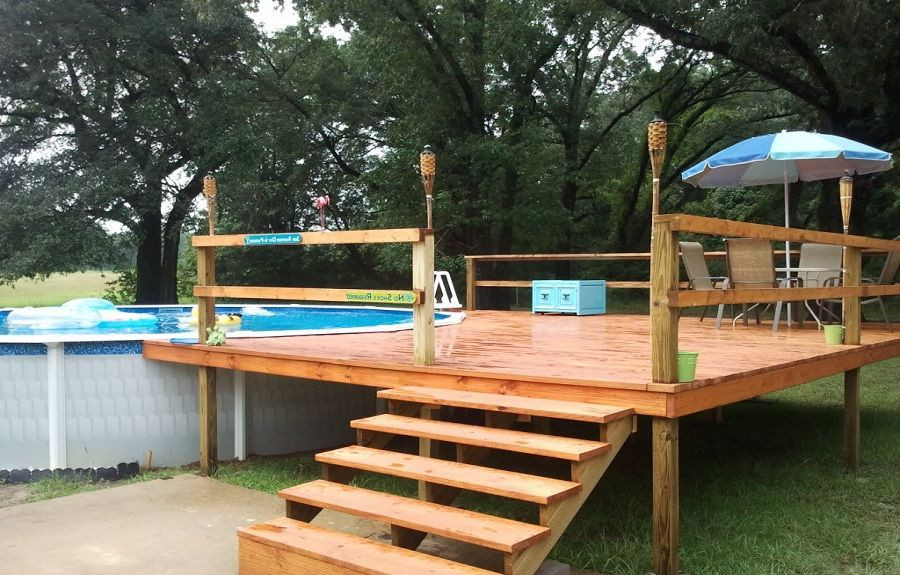 Best ideas about Free Above Ground Pool Deck Plans . Save or Pin 24 foot above ground pool deck plans Now.