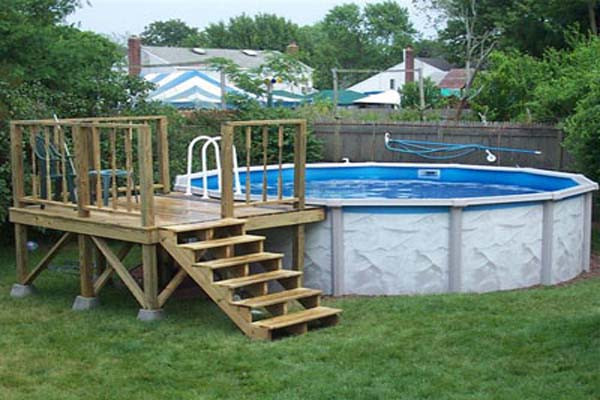 Best ideas about Free Above Ground Pool Deck Plans . Save or Pin Woodwork How To Build An Ground Pool Deck PDF Plans Now.