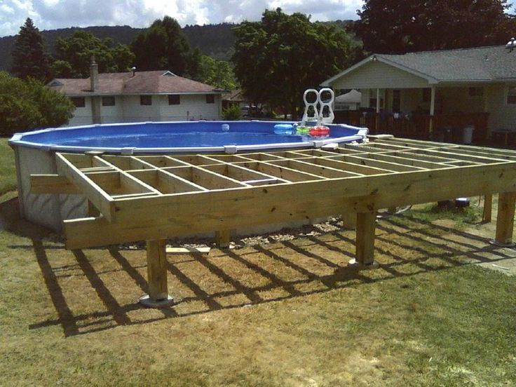 Best ideas about Free Above Ground Pool Deck Plans . Save or Pin 24 FT Ground Pool Deck Plans Bing images Now.
