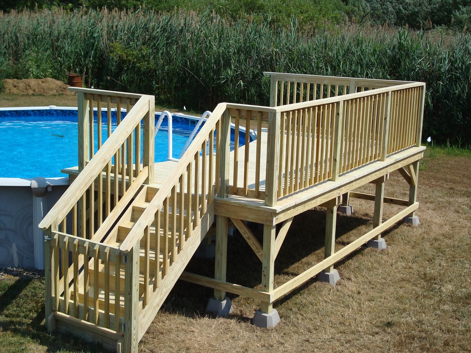 Best ideas about Free Above Ground Pool Deck Plans . Save or Pin currydecks Now.