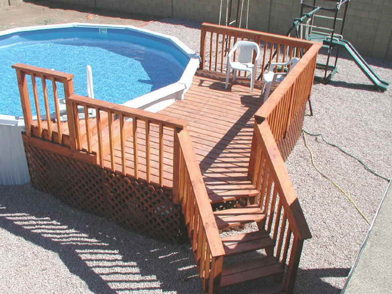 Best ideas about Free Above Ground Pool Deck Plans . Save or Pin Home Remodeling Ground Pool Deck Plans Now.