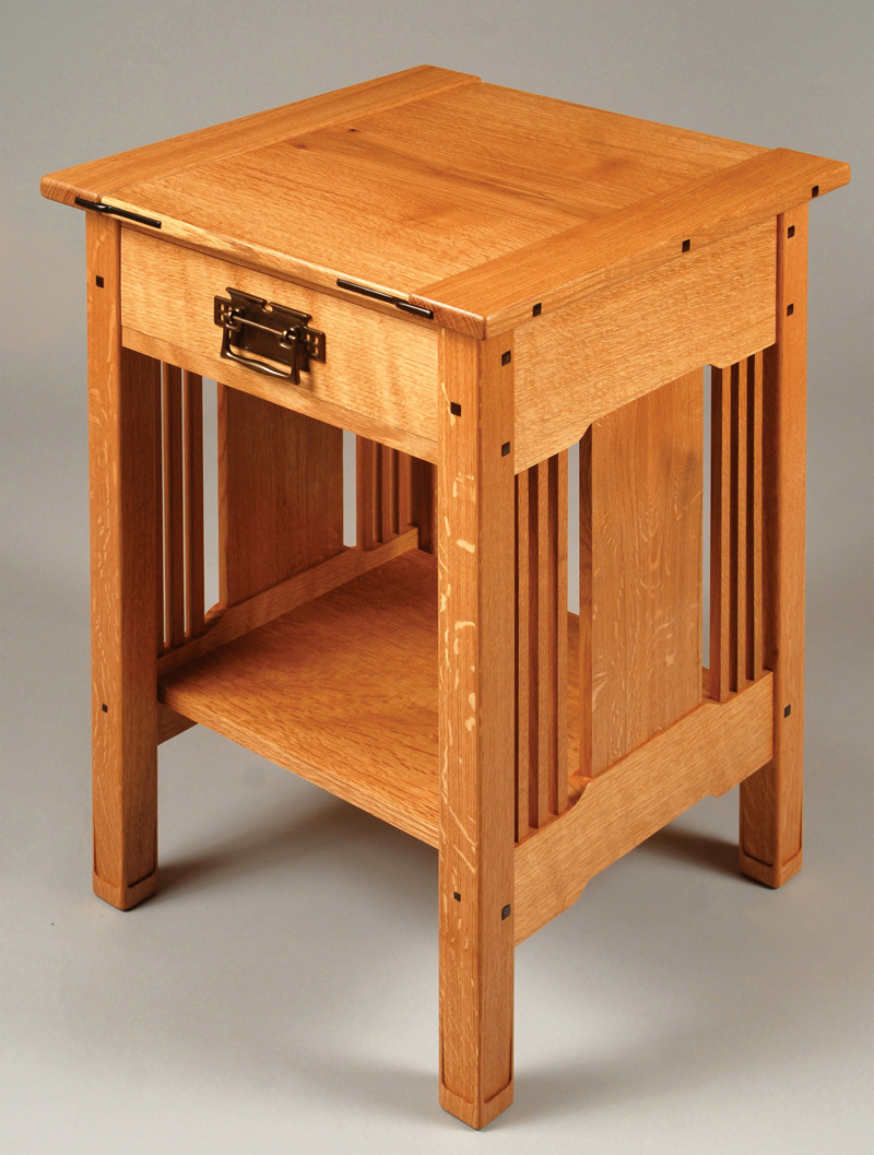 Best ideas about Free Arts And Crafts Woodworking Plans . Save or Pin Arts & Crafts Bedside Table Popular Woodworking Magazine Now.