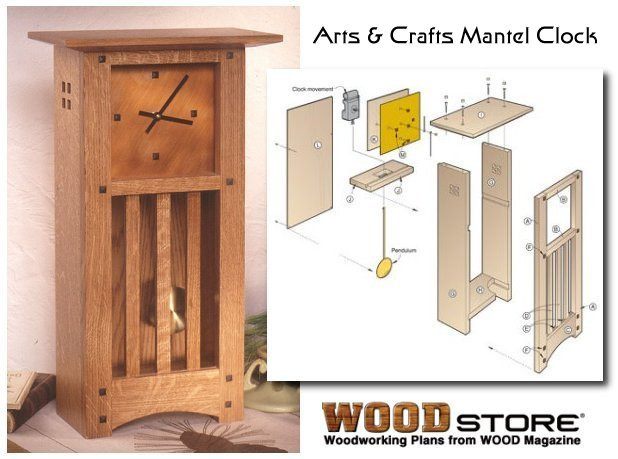 Best ideas about Free Arts And Crafts Woodworking Plans . Save or Pin Clock Plans Now.