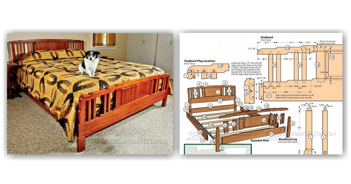Best ideas about Free Arts And Crafts Woodworking Plans . Save or Pin Arts and Crafts Bed Plans • WoodArchivist Now.
