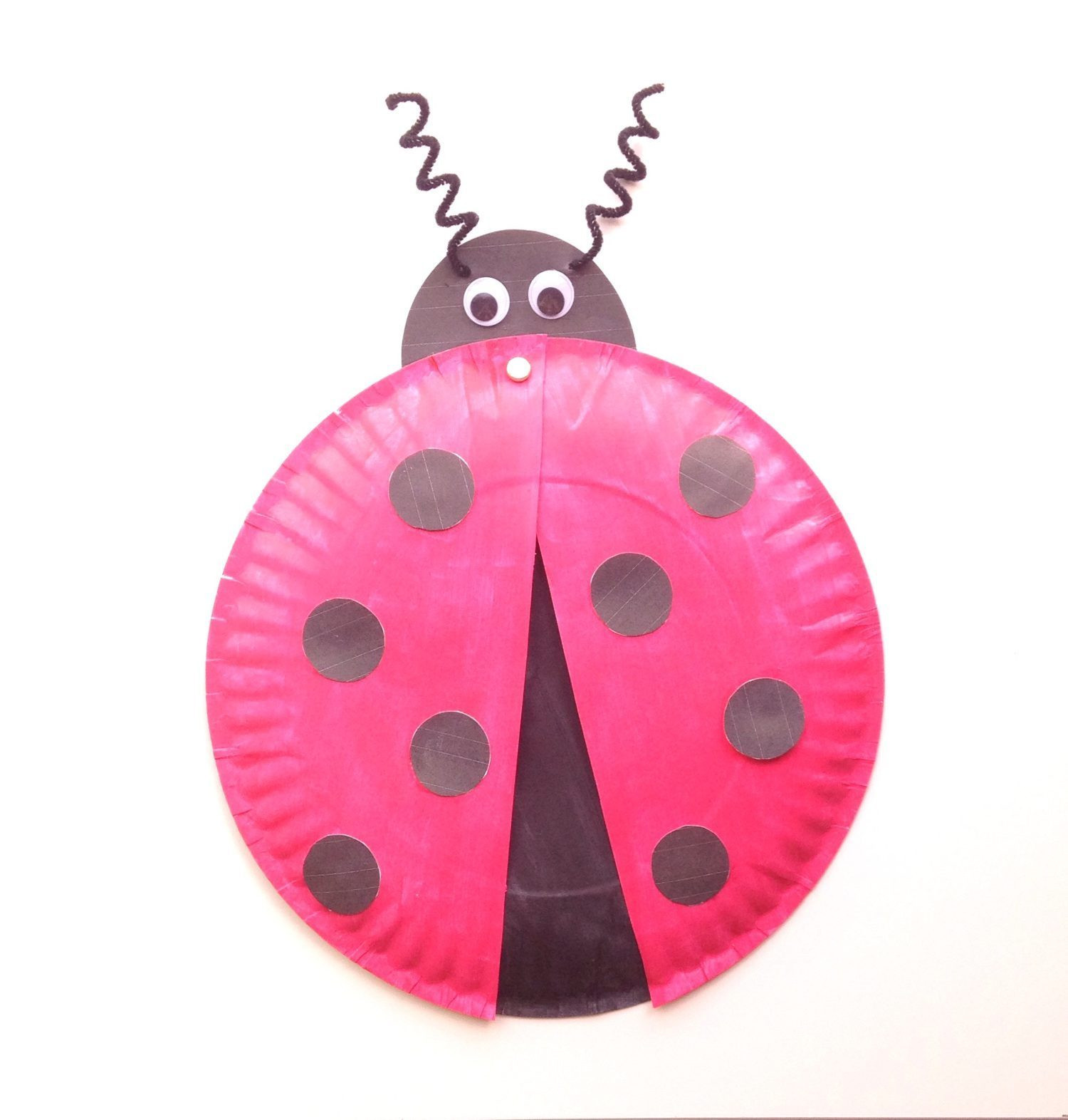 Best ideas about Free Kids Crafts . Save or Pin Ladybug Paper Plate Craft for Kids Free Printable Now.