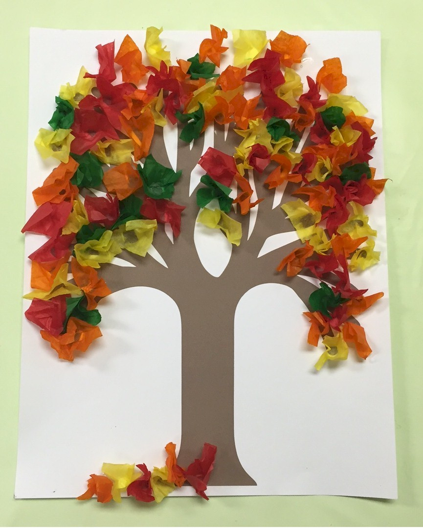 Best ideas about Free Kids Crafts . Save or Pin Fall Tissue Paper Tree Now.