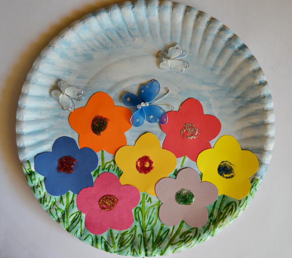 Best ideas about Free Kids Crafts . Save or Pin Paper Plate Spring Garden Now.