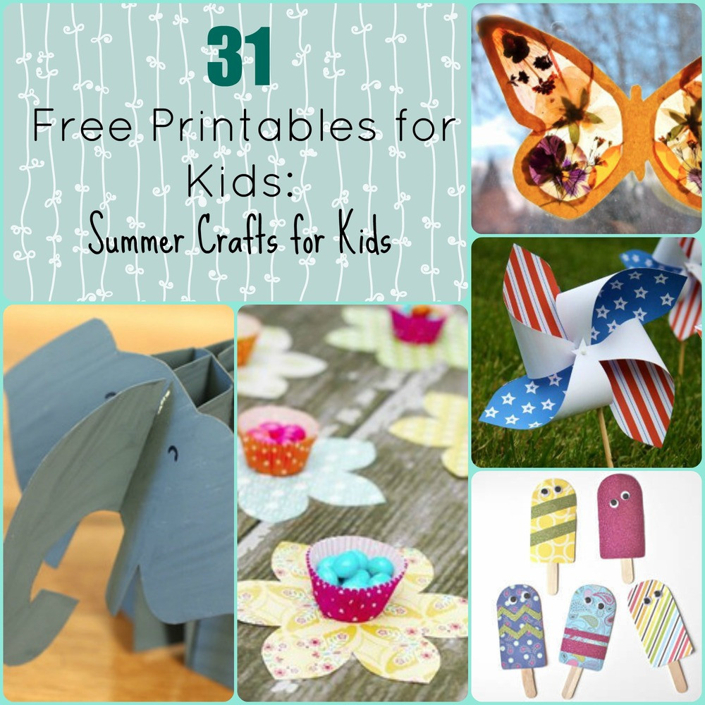 Best ideas about Free Kids Crafts . Save or Pin 31 Free Printables for Kids Summer Crafts for Kids Now.