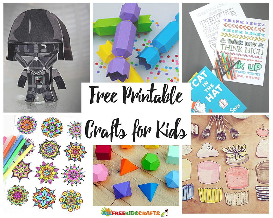 Best ideas about Free Kids Crafts . Save or Pin 100 Free Printable Crafts for Kids Now.