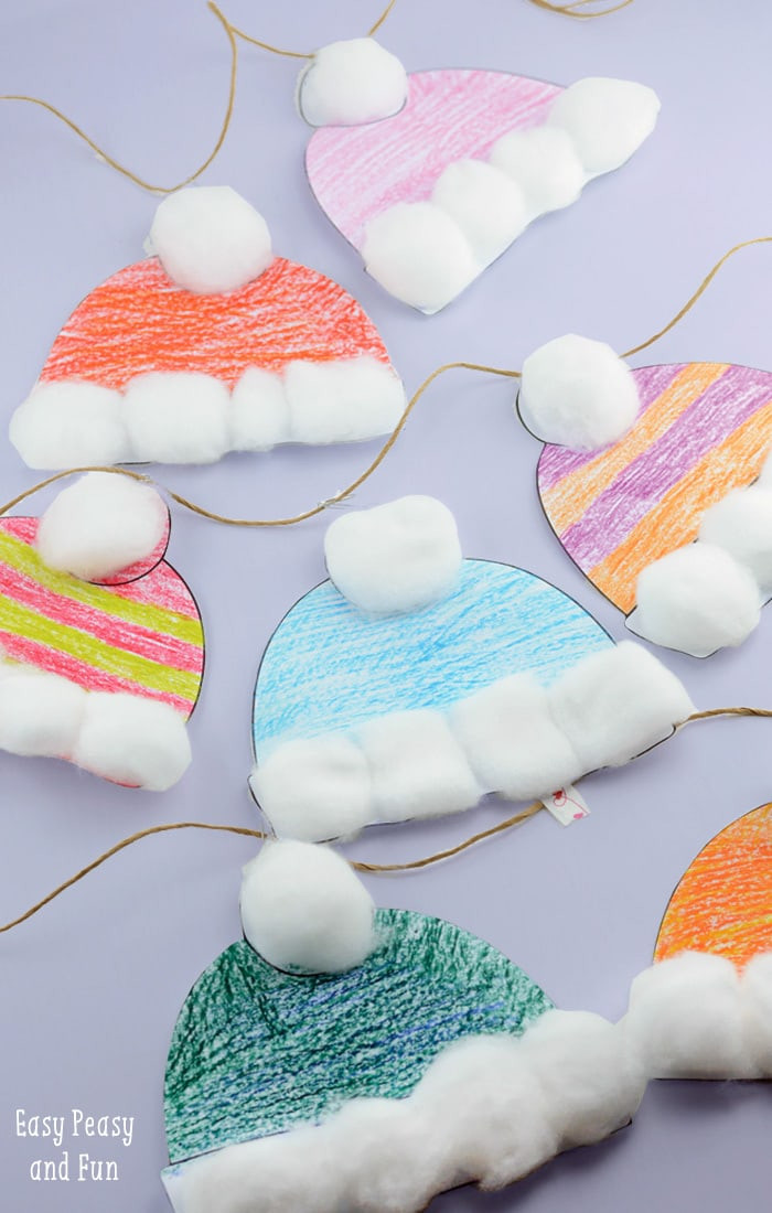 Best ideas about Free Kids Crafts . Save or Pin Winter Hats Craft for Kids Perfect Classroom Craft Now.