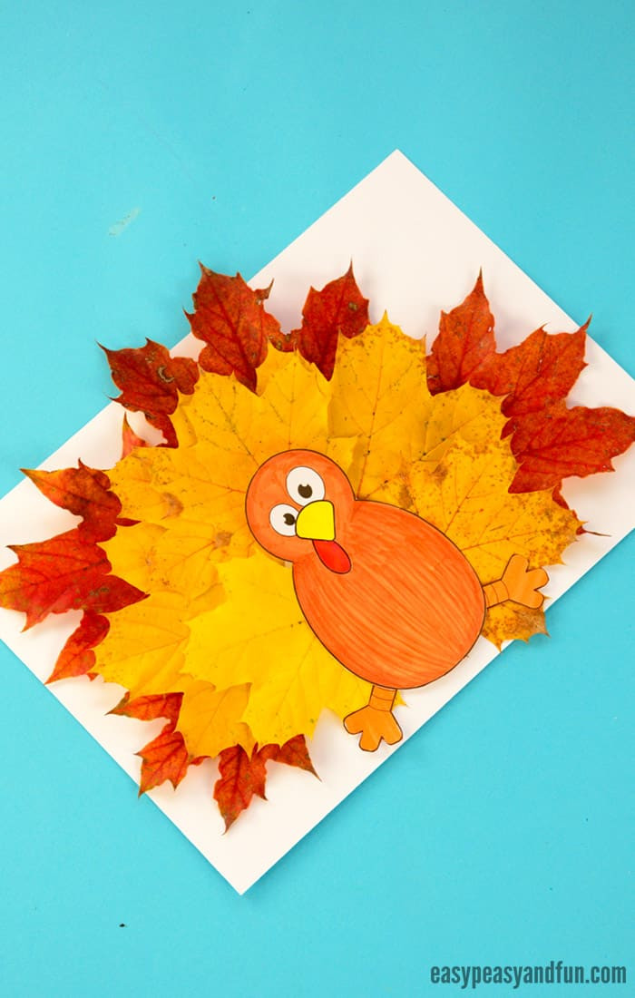 Best ideas about Free Kids Crafts . Save or Pin Turkey Leaf Craft Template Easy Peasy and Fun Now.