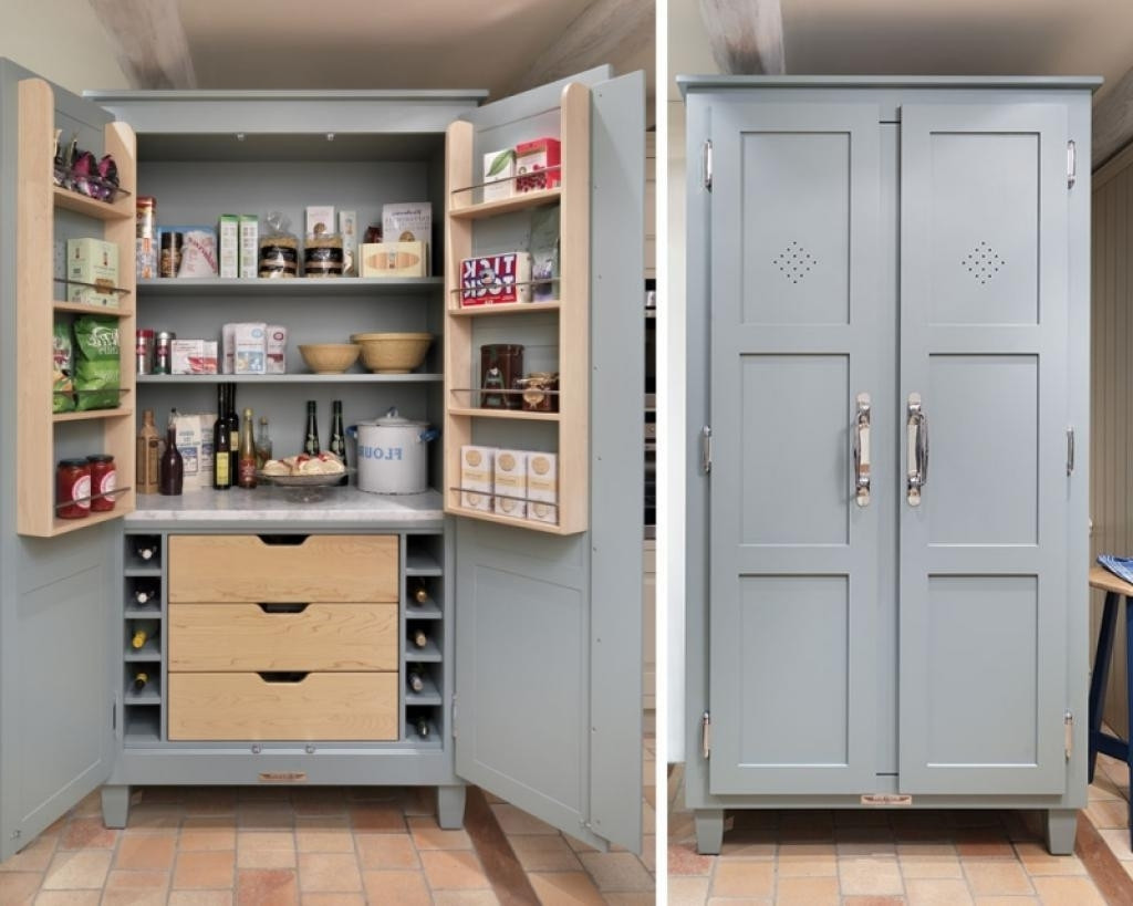 Best ideas about Free Standing Kitchen Pantry Cabinet . Save or Pin 30 Free Standing Kitchen Cabinets Trend 2018 Interior Now.