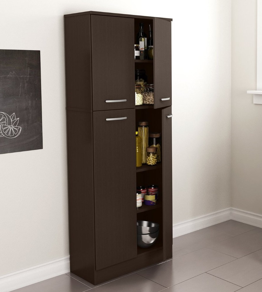 Best ideas about Free Standing Kitchen Pantry Cabinet . Save or Pin Food Pantry Cabinet with Doors Tall Wood Free Standing Now.