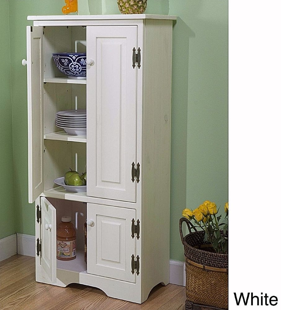 Best ideas about Free Standing Kitchen Pantry Cabinet . Save or Pin Kitchen Cabinets Made Simple White Free Standing Pantry Now.