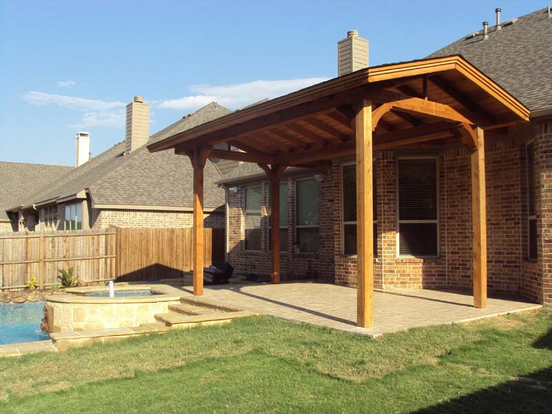 Best ideas about Free Standing Patio Cover . Save or Pin Small Freestanding Shingled Patio Cover Hundt Patio Now.
