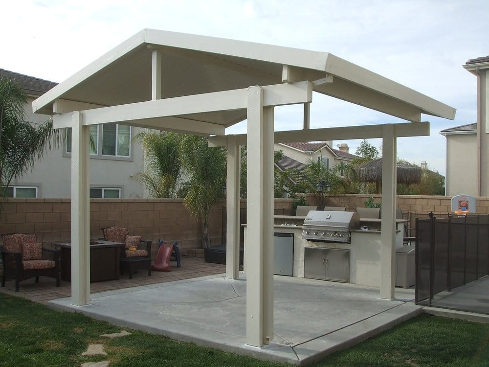 Best ideas about Free Standing Patio Cover . Save or Pin alumawood patio cover free standing gable Yelp Now.