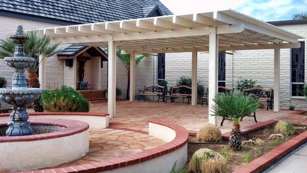 Best ideas about Free Standing Patio Cover . Save or Pin Aluminum Patio Cover Free Standing Lattice Style Yelp Now.