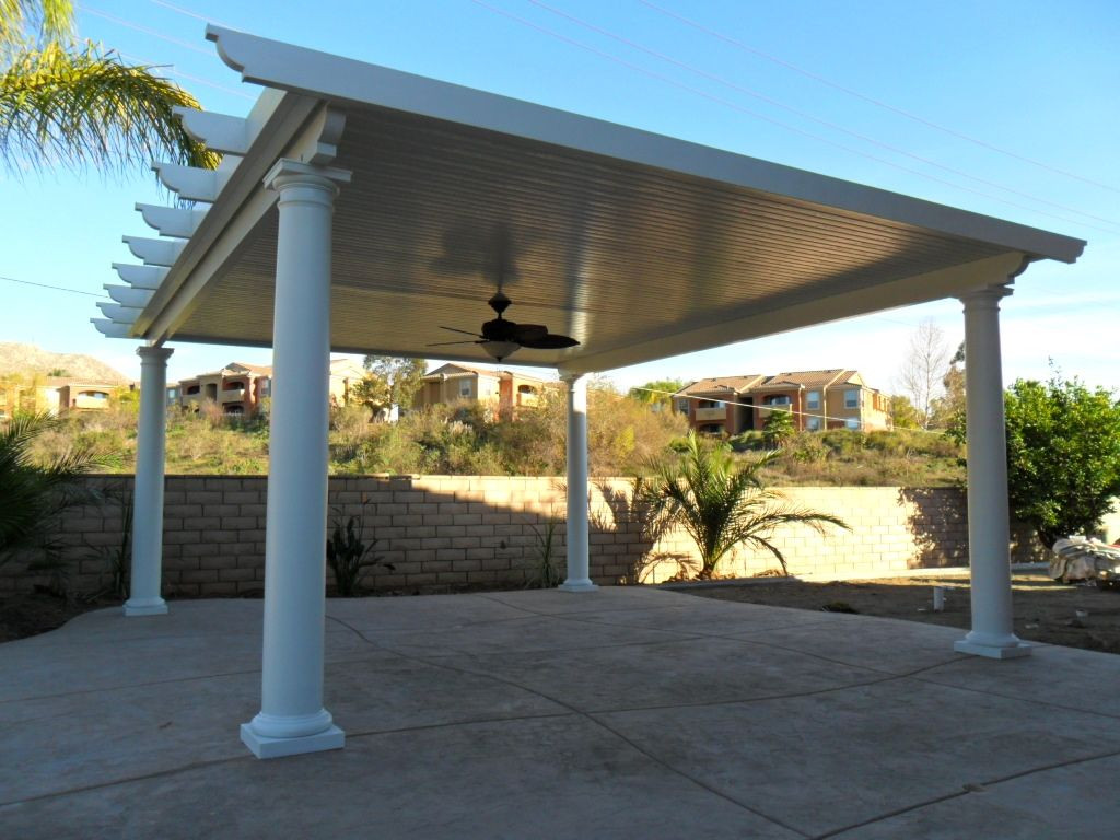 Best ideas about Free Standing Patio Cover . Save or Pin Free Standing Solid Alumawood Patio Cover Riverside CA Now.