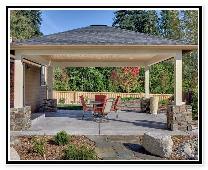 Best ideas about Free Standing Patio Cover . Save or Pin Patio Cover Plans Free Standing Patio ideas Now.