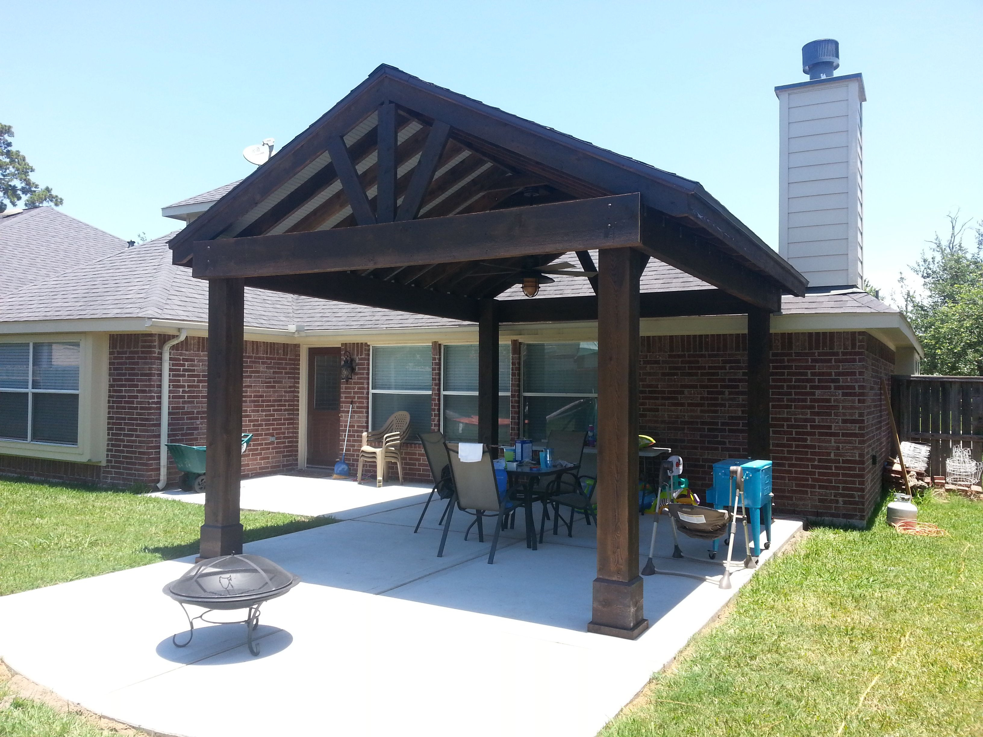 Best ideas about Free Standing Patio Cover . Save or Pin Free stnading higher than roof autiful free standing Now.