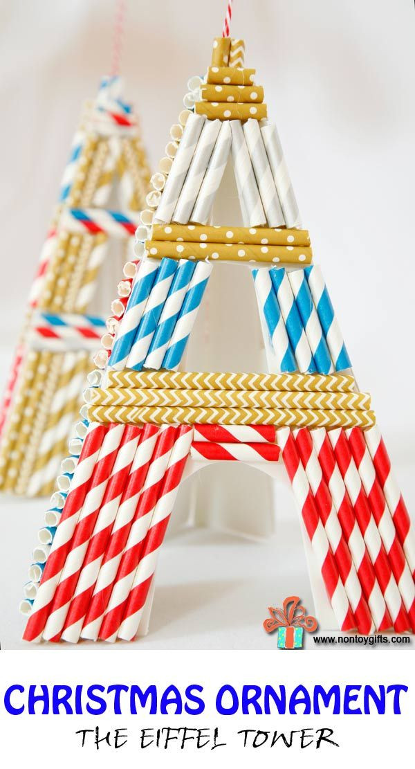 Best ideas about French Crafts For Kids . Save or Pin Christmas Ornaments The Eiffel Tower Now.