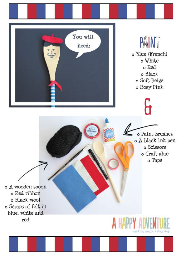 Best ideas about French Crafts For Kids . Save or Pin Little World France French Spoon Characters Now.