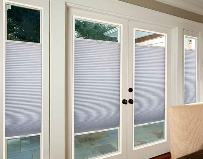 Best ideas about French Patio Doors With Blinds . Save or Pin French Door Light Filtering Shades Now.