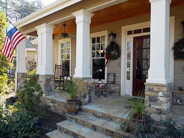 Best ideas about Front Porch Pantry . Save or Pin Plan RL Rustic Appeal with Country Front Porch Now.