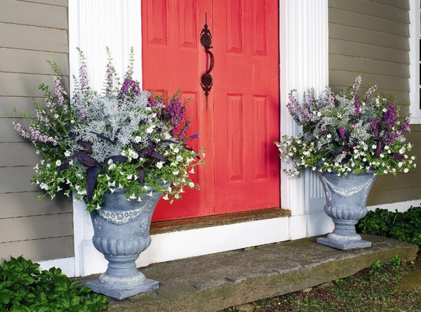 Best ideas about Front Porch Planter Ideas . Save or Pin 17 Pretty Planter Ideas Beneath My Heart Now.