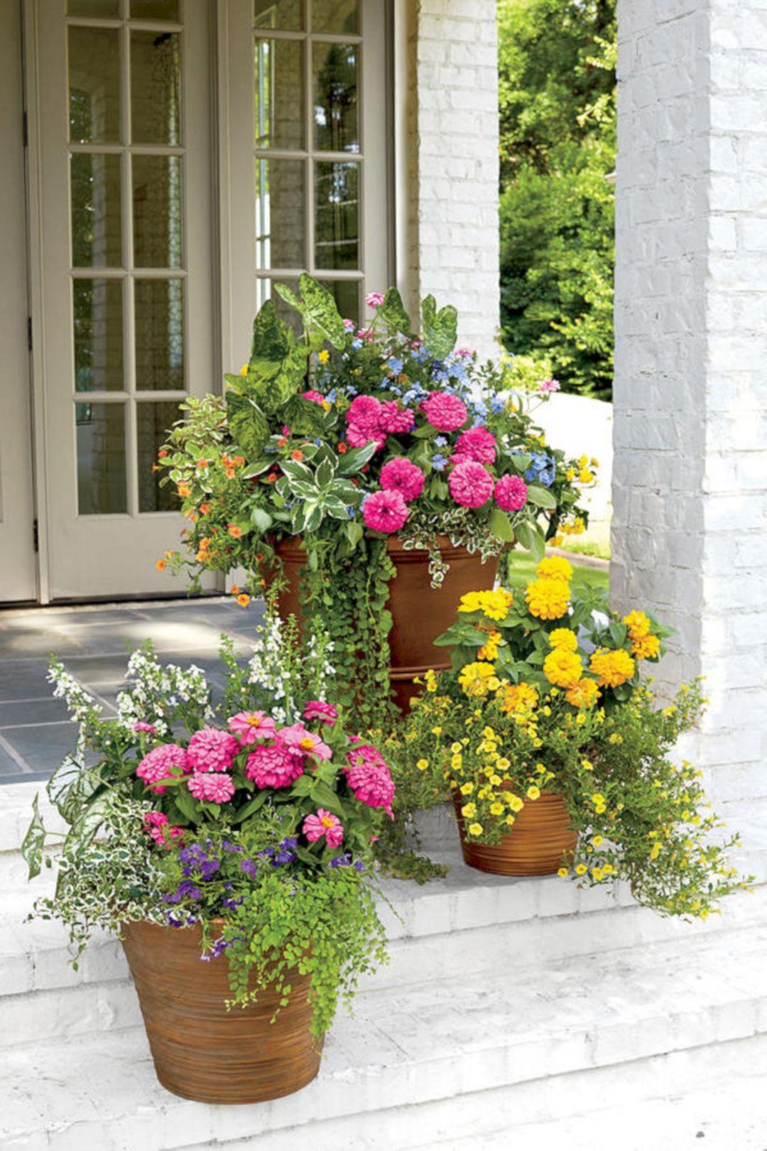 Best ideas about Front Porch Planter Ideas . Save or Pin Front Porch Flower Planter Ideas 43 Front Porch Flower Now.