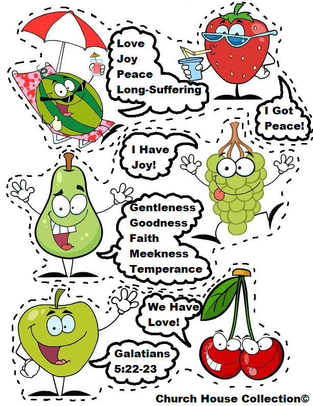 Best ideas about Fruit Of The Spirit Crafts For Kids . Save or Pin Church House Collection Blog Fruit The Spirit Free Now.
