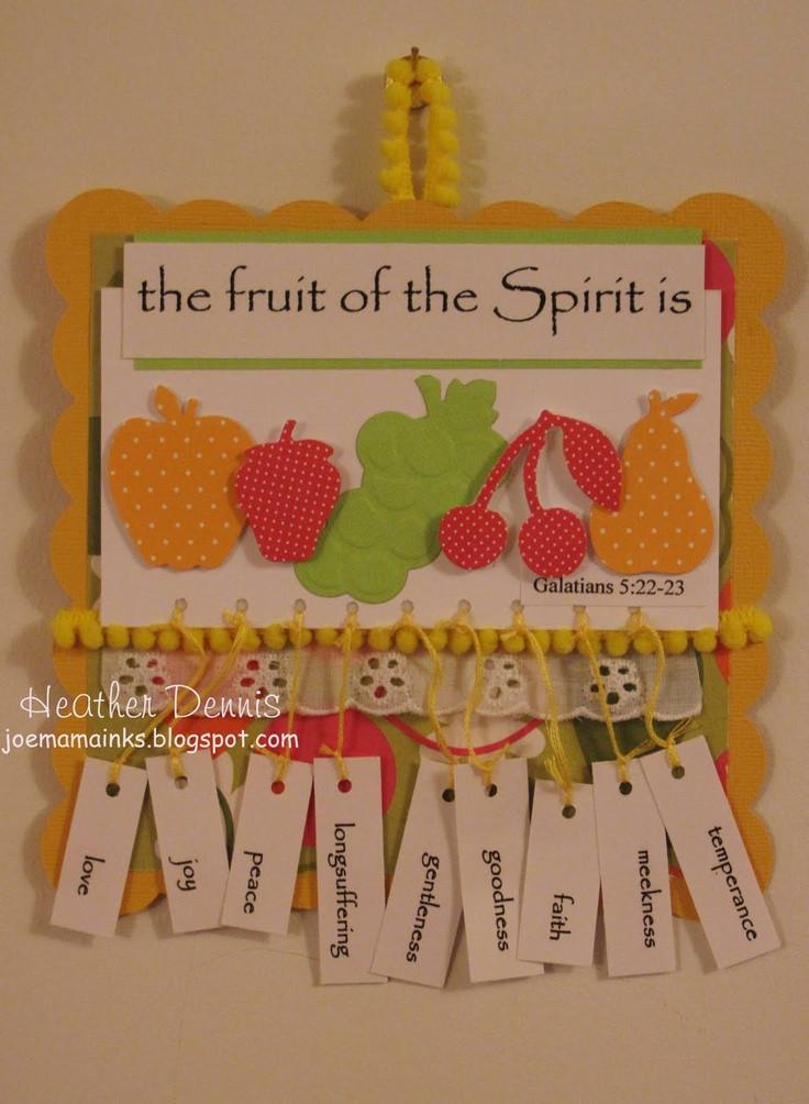 Best ideas about Fruit Of The Spirit Crafts For Kids . Save or Pin Fruit of the Spirit Fruit of the spirit Now.